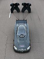 Feb 22, 2014; Chandler, AZ, USA; NHRA funny car driver Gary Densham during qualifying for the Carquest Auto Parts Nationals at Wild Horse Pass Motorsports Park. Mandatory Credit: Mark J. Rebilas-USA TODAY Sports