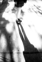 Girl's legs and shadow<br />