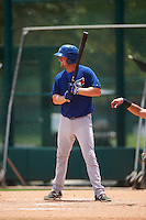 GCL Blue Jays first baseman David Jacob (25) at bat during a game against the GCL Braves on August 5, 2016 at ESPN Wide World of Sports in Orlando, Florida.  GCL Braves defeated the GCL Blue Jays 9-0.  (Mike Janes/Four Seam Images)