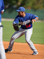 Los Angeles Dodgers minor leaguer Jaime Ortiz during Spring Training at Dodgertown on March 22, 2007 in Vero Beach, Florida.  (Mike Janes/Four Seam Images)