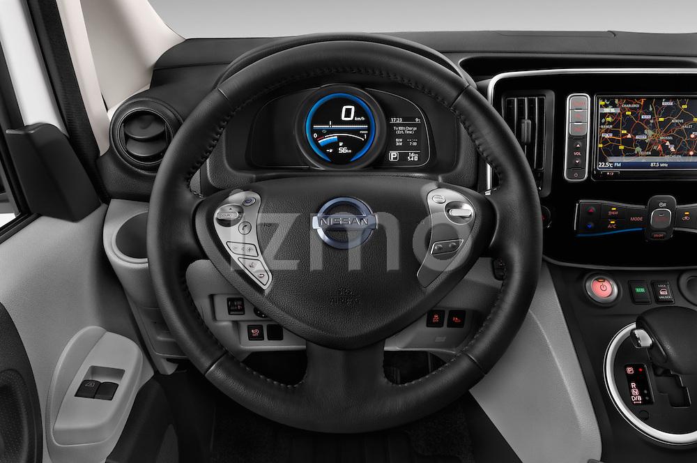 Car pictures of steering wheel view of a 2015 Nissan NV200 Optima 4 Door Cargo Van 2WD Steering Wheel