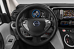 Car pictures of steering wheel view of a 2015 Nissan NV200 Optima 4 Door Cargo Van 2WD Steering Wheel