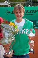 14-08-10, Hillegom, Tennis, NJK, Max de Vroome, winnaar 16 jaar