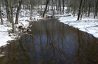 A snow scene is shown, Friday, February 19, 2021 along Slaughter Pen Trail in Bentonville. Check out nwaonline.com/210220Daily/ for today's photo gallery. <br /> (NWA Democrat-Gazette/Charlie Kaijo)