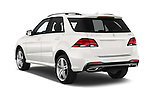 Car pictures of rear three quarter view of 2016 Mercedes Benz GLE-Class 5 Door SUV Angular Rear