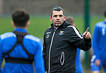 St Johnstone Training….19.10.20     <br />Manager Callum Davidson pictured during training this morning at McDiarmid Park after Saturday's 5-3 win over Hamilton.<br />Picture by Graeme Hart.<br />Copyright Perthshire Picture Agency<br />Tel: 01738 623350  Mobile: 07990 594431