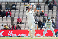 Kyle Jamieson, New Zealand climbs into Mohammad Shami, India and hits six runs over long on during India vs New Zealand, ICC World Test Championship Final Cricket at The Hampshire Bowl on 22nd June 2021