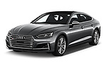 2018 Audi S5 Sportback Base 5 Door Hatchback angular front stock photos of front three quarter view