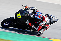 29th March 2021; Barcelona, Spain;  Superbikes, WorldSSP300 , day 1 testing at Circuit Barcelona-Catalunya; Santi Duarte (POR) riding Yamaha YZF-R3 from Yamaha MS Racing