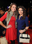 Amanda Bernhard and Huda Alsheikh on the red carpet at Fashion Houston at the Wortham Theater Thursday Nov.14,2013.  (Dave Rossman photo)