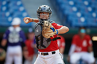 Sergio Guerra (31) of San Diego High School in San Diego, TX during the Perfect Game National Showcase at Hoover Metropolitan Stadium on June 19, 2020 in Hoover, Alabama. (Mike Janes/Four Seam Images)