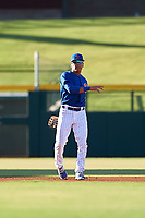 AZL Cubs 1 shortstop Pedro Martinez (11) during an Arizona League game against the AZL Athletics Gold at Sloan Park on June 20, 2019 in Mesa, Arizona. AZL Athletics Gold defeated AZL Cubs 1 21-3. (Zachary Lucy/Four Seam Images)