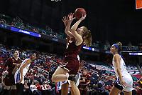 GREENSBORO, NC - MARCH 06: Georgia Pineau #5 of Boston College shoots the ball during a game between Boston College and Duke at Greensboro Coliseum on March 06, 2020 in Greensboro, North Carolina.