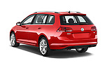 Car pictures of rear three quarter view of a 2015 Volkswagen Golf Highline 5 Door Wagon 2WD Angular Rear