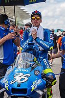 3rd October 2021; Austin, Texas, USA; Joan Mir (36) - (SPA) riding a Suzuki for the Team SUZUKI ECSTAR on the grid for the MotoGP Red Bull Grand Prix of the Americas