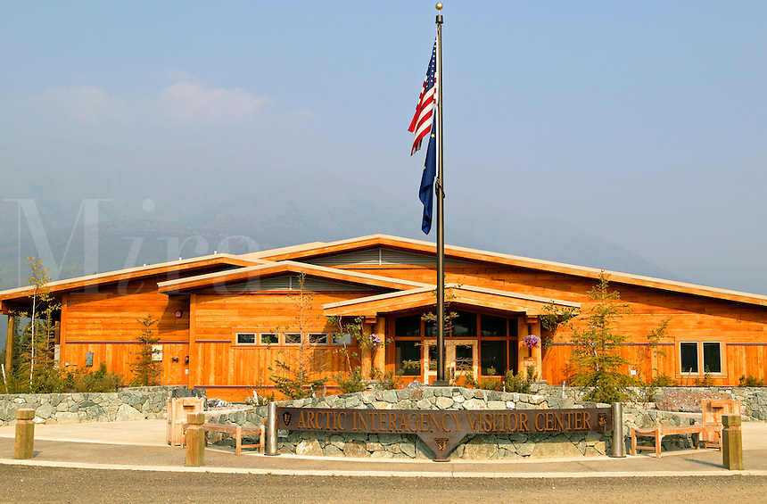 The Arctic Interagency Visitor Center located in the Brooks Range along the Dalton Highway, Coldfoot,  Alaska