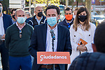 The candidate of Ciudadanos (Cs) for the presidency of the Community of Madrid, Edmundo Bal, attends the media after visiting the Ciudad Lineal neighborhood . April 26, 2021. (ALTERPHOTOS/Ramiro Ellis)