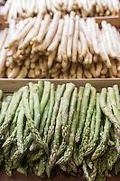 Europe/France/Provence-Alpes-Côte d'Azur/Alpes-Maritimes/Cannes: Marché Forville: Asperges   //    Europe, France, Provence-Alpes-Côte d'Azur, Alpes-Maritimes, Cannes:  Forville market Asparagus