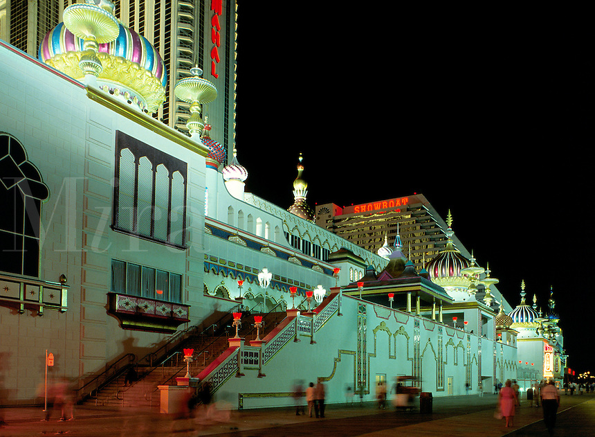 Taj Mahal Hotel and Casino on the Boardwalk in Atlantic City, New Jersey