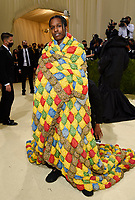"""A$AP Rocky attends The Metropolitan Museum of Art's Costume Institute benefit gala celebrating the opening of the """"In America: A Lexicon of Fashion"""" exhibition on Monday, Sept. 13, 2021, in New York. (Photo by Evan Agostini/Invision/AP)"""
