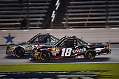 NASCAR Camping World Truck Series<br /> JAG Metals 350<br /> Texas Motor Speedway<br /> Fort Worth, TX USA<br /> Friday 3 November 2017<br /> Ryan Truex, Chiba Toyopet Toyota Tundra, Noah Gragson, Switch Toyota Tundra<br /> World Copyright: John K Harrelson<br /> LAT Images