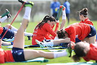 20190226 - LARNACA , CYPRUS :  illustration picture shows the Italian team during a Matchday -1 training prior to their game against the women team of Mexico , on Tuesday 26 February 2019 at the Alpha Sports Grounds in Larnaca , Cyprus . This will be the first game in group B for Belgium during the Cyprus Womens Cup 2019 , a prestigious women soccer tournament as a preparation on the European Championship 2021 qualification duels. PHOTO SPORTPIX.BE | DAVID CATRY