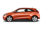 Car Driver side profile view of a 2015 Hyundai I20 Sport 3 Door Hatchback Side View