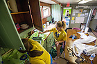 May 13, 2014; Students work on a service project at The Safe Place in South Bend during senior week 2014. Photo by Matt Cashore/University of Notre Dame