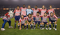 Chivas USA starting eleven.The Houston Dynamo and Chivas USA played to a 1-1 tie at Home Depot Center stadium in Carson, California on Saturday October 25, 2008. Photo by Michael Janosz/isiphotos.com