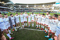 11 January 2020; Iain Henderson talks to his players after  the Heineken Champions Cup Pool 3 Round 5 match between ASM Clermont Auvergne and Ulster at Stade Marcel-Michelin in Clermont-Ferrand, France. Photo by John Dickson/DICKSONDIGITAL