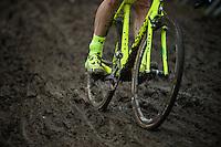 'yellow fluo vs. mud' by Sven Nys (BEL/Crelan-AAdrinks)<br /> <br /> 2016 Belgian National CX Championships