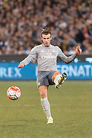 Melbourne, 24 July 2015 - Gareth Bale of Real Madrid kicks the ball in game three of the International Champions Cup match between Manchester City and Real Madrid at the Melbourne Cricket Ground, Australia. Real Madrid def City 4-1. (Photo Sydney Low / AsteriskImages.com)
