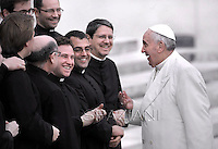 Pope Francis during his weekly general audience in St. Peter square at the Vatican, Wednesday.February 22, 2014.