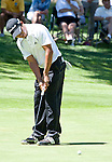 August 5, 2012:  Andres Romero from Tucuman, Argentina putts on the 5th hole during the final round of the 2012 Reno-Tahoe Open Golf Tournament at Montreux Golf & Country Club in Reno, Nevada.