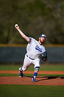 South Dakota State Jackrabbits starting pitcher Ryan Froom (35) during a game against the Northeastern Huskies on February 23, 2019 at North Charlotte Regional Park in Port Charlotte, Florida.  Northeastern defeated South Dakota State 12-9.  (Mike Janes/Four Seam Images)