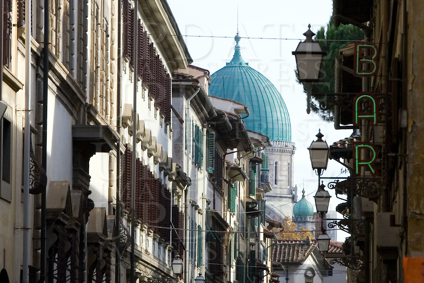 La cupola della Sinagoga di Firenze.<br /> The dome of the Synagogue of Florence is seen on background.<br /> UPDATE IMAGES PRESS/Riccardo De Luca
