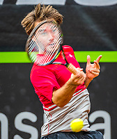Rotterdam, Netherlands, August21, 2017, Rotterdam Open, Guy den Heijer (NED)<br /> Photo: Tennisimages/Henk Koster