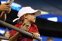 CHARLOTTE, NC - OCTOBER 3: A fan during a game between Korea Republic and USWNT at Bank of America Stadium on October 3, 2019 in Charlotte, North Carolina.