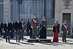 -FErnando Grande-Marlaska, Pedro Sanchez, King Felipe VI of Spain, Queen Letizia of Spain and Margarita Robles attends to Pascua Militar at Royal Palace in Madrid, Spain. January 06, 2019. (ALTERPHOTOS/Pool)