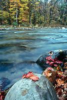New Haven river near Bristol VT in fall
