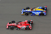 Verizon IndyCar Series<br /> Indianapolis 500 Race<br /> Indianapolis Motor Speedway, Indianapolis, IN USA<br /> Sunday 28 May 2017<br /> Graham Rahal, Rahal Letterman Lanigan Racing Honda and Alexander Rossi, Andretti Herta Autosport with Curb-Agajanian Honda<br /> World Copyright: Russell LaBounty<br /> LAT Images