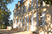 Chateau Belingard in autumn evening sunshine Chateau Belingard Bergerac Dordogne France