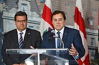 Guy Breton and Montreal mayor Denis Coderre in September 2015.<br /> <br /> photo : Agence Quebec Presse