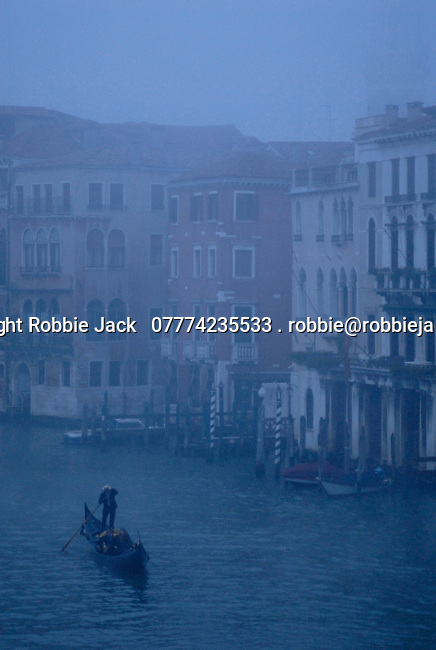 Gondola on the Grand Canal in Venice, Italy.