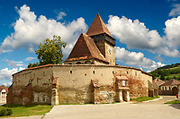 The Gothic  14th Century Axente Sever Saxon Evangelical Fortified Church, Sibiu, Transylvania.
