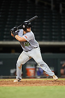 Peoria Javelinas Colton Shaver (40), of the Houston Astros organization, at bat during an Arizona Fall League game against the Mesa Solar Sox on September 21, 2019 at Sloan Park in Mesa, Arizona. Mesa defeated Peoria 4-1. (Zachary Lucy/Four Seam Images)