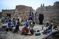 BURKINA FASO , Gaoua, Kampti, Lobi culture, Lobi is an ethnic group and they are animist and worship ancestor spirit, village KWEKWERA ( KOUEKOUERA ), court of fetish maker SIB TADJALTHE / Lobi Ethnie, Lobi sind Animisten und praktizieren Ahnenkulte, Dorf KWEKWERA ( KOUEKOUERA ), am Hof des Fetischmeister SIB TADJALTHE