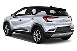 Car pictures of rear three quarter view of 2020 Renault Captur E-Tech-First 5 Door SUV Angular Rear