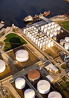 Oil storage tanks , Houston, Texas, TX.
