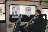 Election poster of Mihai Ghimpu, chairman of Liberal Party, in a public transport. Chisinau, Republic of Moldova.  / Präsidentenwahl in der Republik Moldau am 30.10.2016 in Chisinau